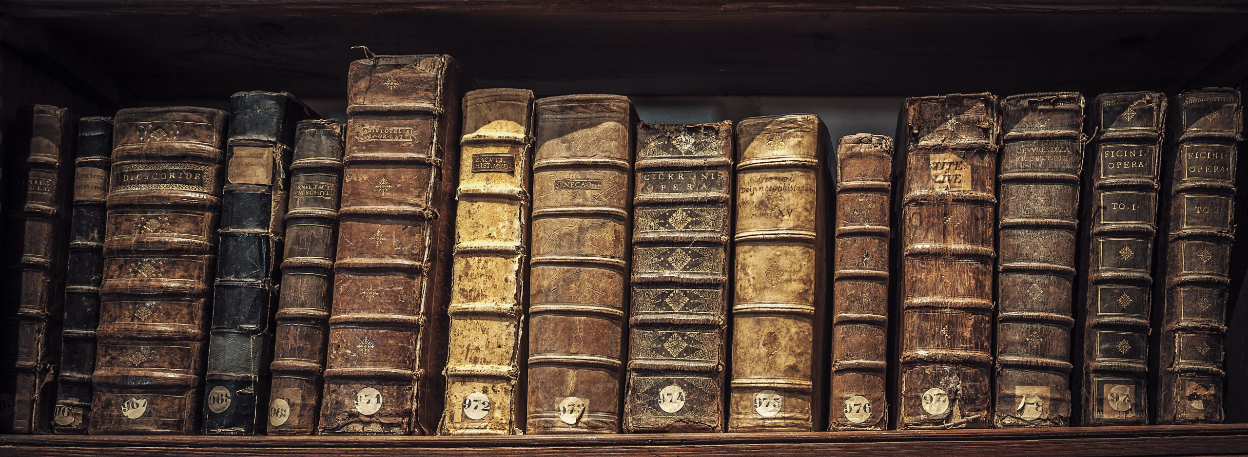 old book in a library